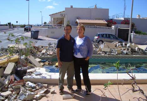 Home knocked down in row with developers