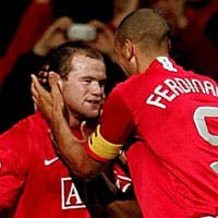 Wayne Rooney and Rio Ferdinand