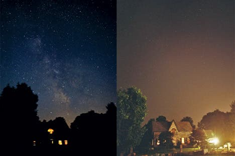 How the night sky is destroyed by bad lighting