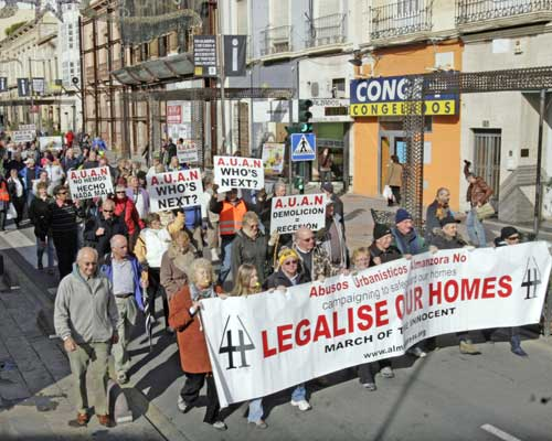 Illegal home protest in Almeria