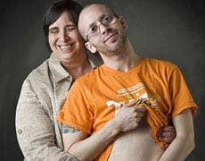 Transsexual man pregnant with twins