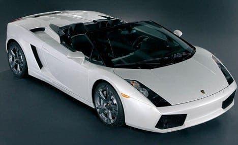 A Lamborghini Gallardo similar to the one Mr Ward was driving