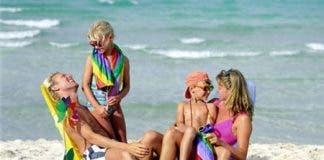 family beach spain