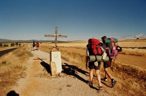ON THE ROAD: Pilgrims head for Santiago de Compostela