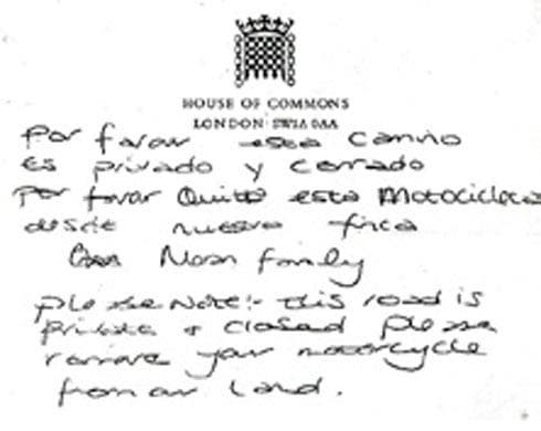 Carter-Ruck tried it on again Moran-commons-letter-spain
