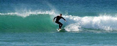 Surfing near Vejer de la Frontera