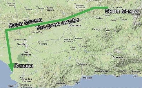A map of the green corridor