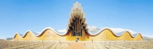 MODERN: Cantabaria's wave-like design at Ysios