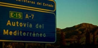 a road  e
