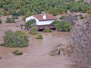Flooding in Jimera de Libar. Photo: Karl Smallman