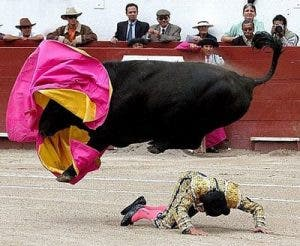 bullfights down