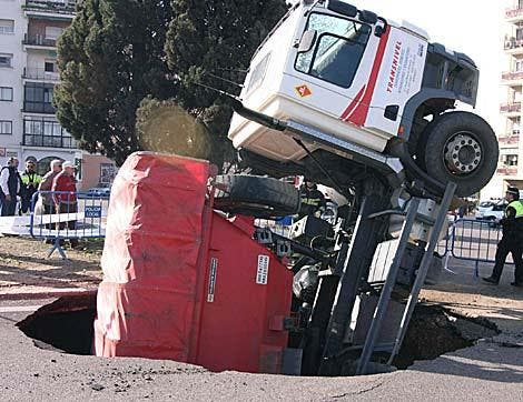 Spanish lorry driver wholly embarassed