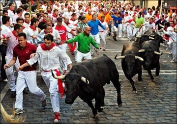 Teenager gored to death at running of the bulls
