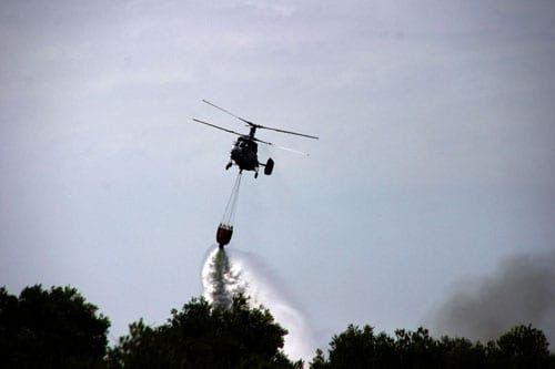 Wild fire in Guadiaro Valley