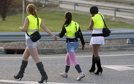 Spanish prostitutes made to wear reflective clothing