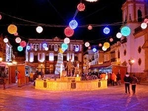 Christmas lights in Ronda