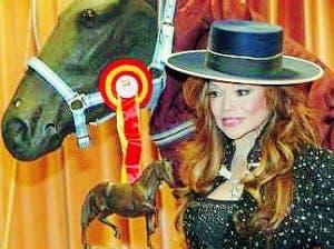 La Toya Jackson gets frisky in Sevilla