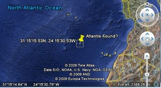 Lost city of Atlantis spotted near Canary Islands