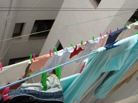 Missing the clothes dryer