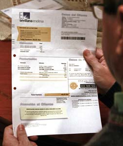 Shocking electricity bill for Endesa customers in Spain