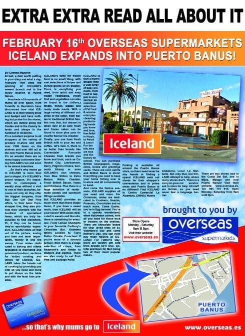 Iceland opening tenth Spanish store in Puerto Banus