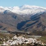 pueblo blanco nestling far below