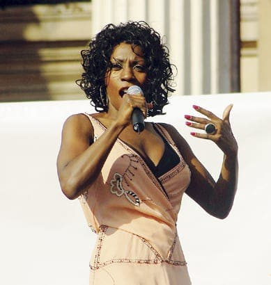 Former M People singer Heather Small in Marbella