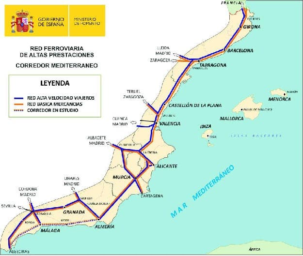 Fast track for rail 'corridor' from Gibraltar to France