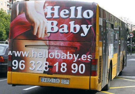 Sexy ads removed from bus rears