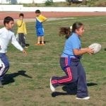 girls and boys play