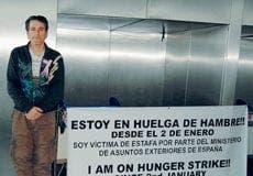 mer parsi iranian hunger strike malaga airport
