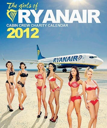 Spanish housewives outraged by Ryanair calendar