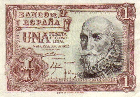 Spanish village brings back peseta