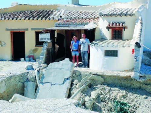 Expat's home in Spain caves in