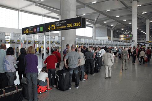malaga airport checkin