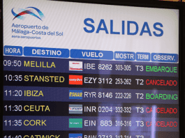 malaga airport departures e
