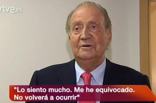 King Juan Carlos: I am sorry