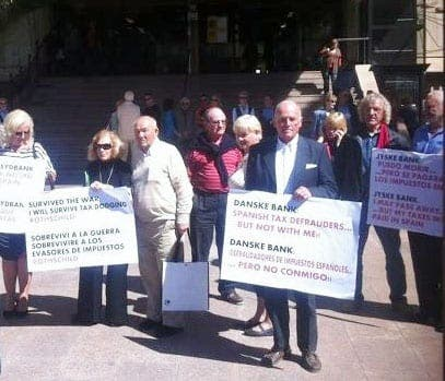 Expat victims of equity release scams protest in Malaga