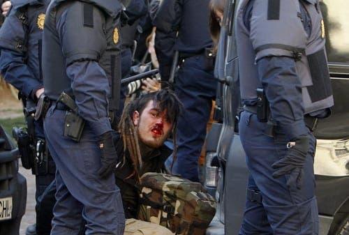Violent Spanish police slammed