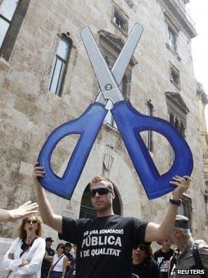 Millions in Spain strike over education spending cuts