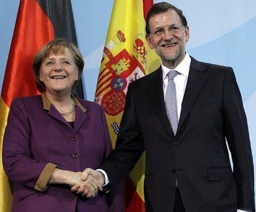 Spanish Prime Minister receives support from Angela Merkel