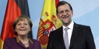 Angela Merkel and Mariano Rajoy e