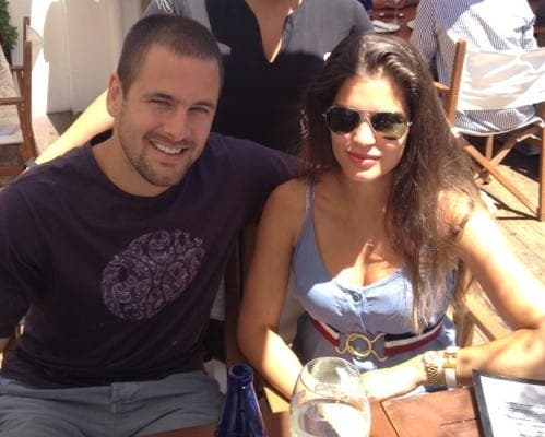 Joe Cole enjoys a curry in Marbella