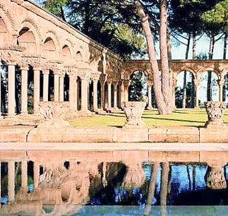 Spectacular Roman cloister 'discovered' in Spanish garden