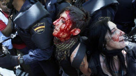 Half of the arrested protestors in Madrid have been released