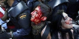 of the protestors in Madrid have been released
