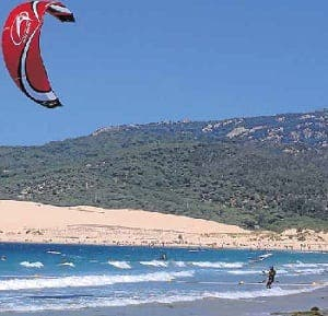 Riding the wind: Kite-surfing on the Costa del Sol