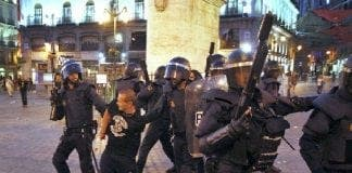 miners protest cuts in Madrid