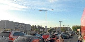 motorists in Gibraltar waiting up to three hours to get off rock