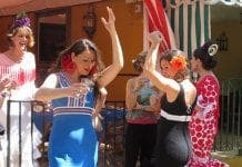 sevilla girls dancing feria de abril